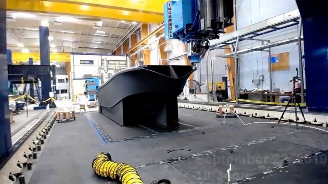 Największa łódź na świecie wydrukowana w 3D