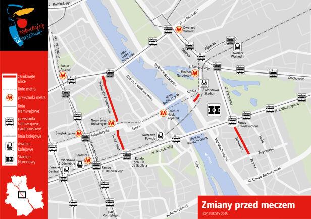 Zamknięte ulice od godziny 10 UM Warszawa