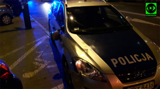 Radiowóz potrącił kobietę Polus/ kontakt24