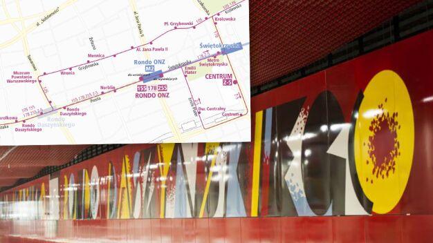 Utrudnienia na II linii metra. Przyłączą stację do nowego odcinka