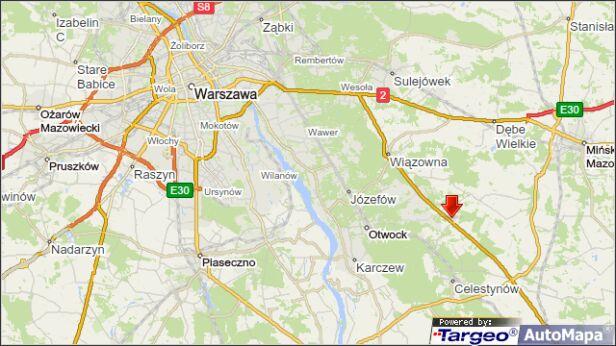 Wypadek na wylotówce targeo
