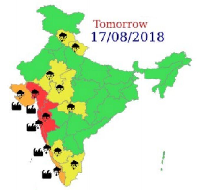 Ostrzeżenia meteorologiczne dla Indii na czwartek (IMD)