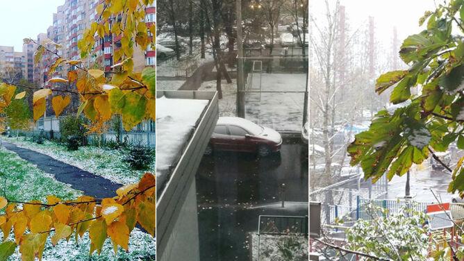 Do Moskwy zawitała zima. <br />Ulice miasta pokrył śnieg