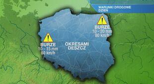 Warunki drogowe we wtorek 18.05