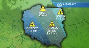 Warunki drogowe w piątek 14.02